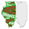 Sublimation Metal Illinois State Ornament THUMBNAIL
