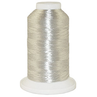 Silver Metallic # 14O Metallic Embroidery Thread 5500 Yard Cone