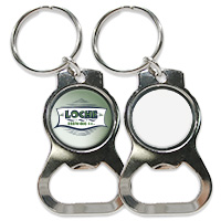Stainless Steel Bottle Opener Keychain with Sublimation Metal Insert
