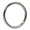 Stainless Steel Split Ring Keyring 1-1/8""
