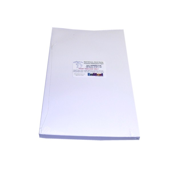 "MPRES Sublimation Paper - 8.5"" x 14"" - 100 Sheet Pack THUMBNAIL"