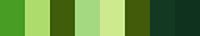 Shades of Green Palette - Polyester Embroidery Thread 5500 Yard Cones