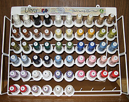 Top 35 Ultra Cotton Quilting Thread Solids - Rack & 60 Mini King Cones MAIN