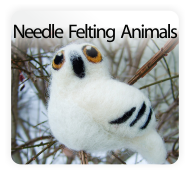 Pretty Twisted Needle Felting Animal DIY Craft Kits
