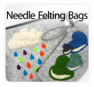 Pretty Twisted Needle Felting Bag DIY Craft Kits