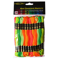 Neon Polyester Embroidery Floss Pack by Iris - 24 Skeins