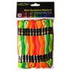 Neon Polyester Embroidery Floss Pack by Iris - 24 Skeins THUMBNAIL