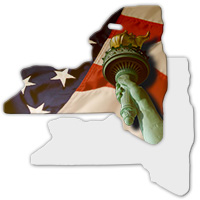 Sublimation Metal New York State Ornament MAIN