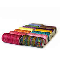 Iris No. 2 Nylon Variegated Craft Cord Crochet Thread THUMBNAIL