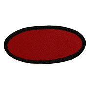 "Oval 1.5"" x 3.25"" Custom Color Blank Patch"