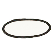 Standard Color Blank Patches - 2 Inch x 3 1/2 Inch Oval