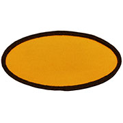 Custom Color Blank Patches - 3 inch by 5 inch Oval MAIN