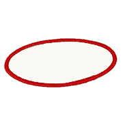 Standard Color Blank Patches - 3 Inch by 5 Inch Oval_LARGE