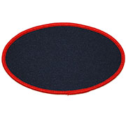 Custom Color Blank Patches - 2 Inch by 4 Inch Oval