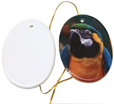 "3.2"" Oval Ceramic Ornament - Sublimation Blank MAIN"