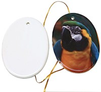 "Sublimation Ceramic Ornament 3.2"" Oval (2-Sided) THUMBNAIL"