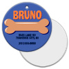 Jumbo 2-Sided Metal Circle Pet ID Tag - Sublimation Blanks