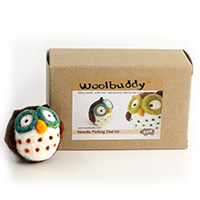 Woolbuddy Needle Felting Owl Kit MAIN