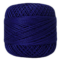 Pearl Cotton Thread Balls by Iris Size 8 - 83 yds Royal Blue #495