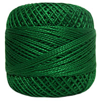 Pearl Cotton Thread Balls by Iris Size 8 - 83 yds Xmas Green #562 MAIN