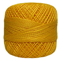 Pearl Cotton Thread Balls by Iris Size 8 - 83 yds Canary Yellow #663 MAIN