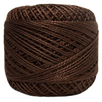 Pearl Cotton Thread Balls by Iris Size 8 - 83 yds Chocolate #727