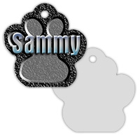 Sublimation Metal Pet ID Tag 2-Sided Paw Print