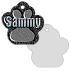 2-Sided Metal Paw Print Pet ID Tag - Sublimation Blanks