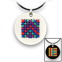Pretty Twisted Geometric Cross Stitch Pendant DIY Craft Kit THUMBNAIL