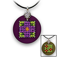Pretty Twisted Nature Cross Stitch Pendant DIY Craft Kit THUMBNAIL