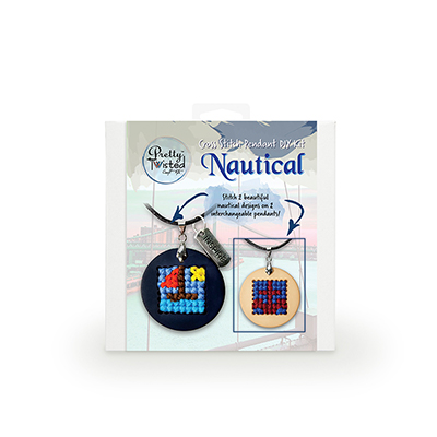 Pretty Twisted Nautical Cross Stitch Pendant DIY Kit MAIN