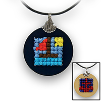 Pretty Twisted Nautical Cross Stitch Pendant DIY Craft Kit THUMBNAIL