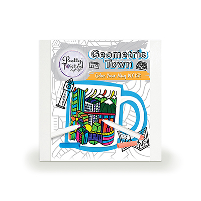 Pretty Twisted Geometric Town Color Your Mug DIY Kit MAIN