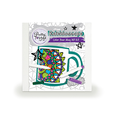 Pretty Twisted Kaleidoscope Color Your Mug DIY Kit MAIN