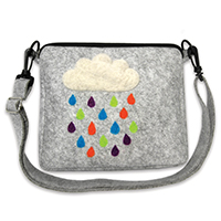Pretty Twisted Rain Cloud Crossbody Bag Needle Felting DIY Craft Kit THUMBNAIL