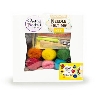 Pretty Twisted Felting Fun Advanced Needle Felting Kit MAIN