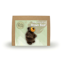 Pretty Twisted Brown Bear Needle Felting DIY Craft Kit THUMBNAIL