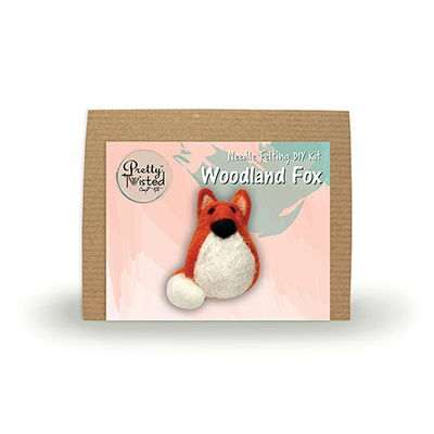 Pretty Twisted Woodland Fox Needle Felting DIY Kit MAIN