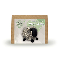 Pretty Twisted Wooly Sheep Needle Felting DIY Craft Kit THUMBNAIL