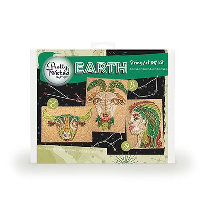Pretty Twisted EARTH Astrology String Art DIY Kit MAIN