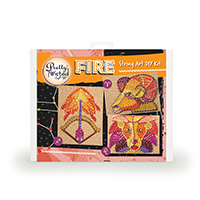 Pretty Twisted FIRE Astrology String Art DIY Craft Kit THUMBNAIL