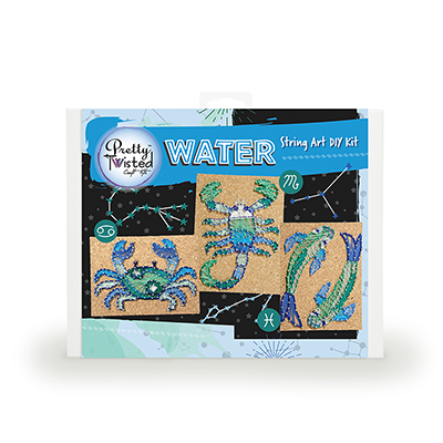 Pretty Twisted WATER Astrology String Art DIY Kit_LARGE