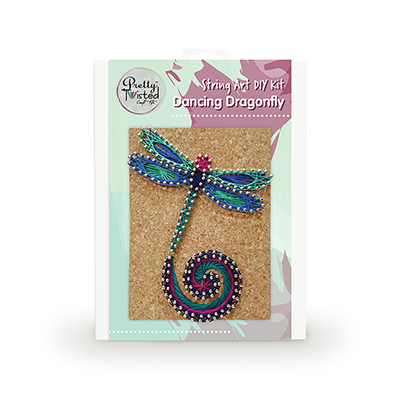 Pretty Twisted Dancing Dragonfly String Art DIY Kit MAIN