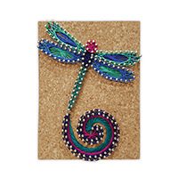Pretty Twisted Dancing Dragonfly String Art DIY Craft Kit THUMBNAIL