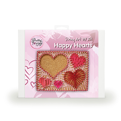 Pretty Twisted Happy Hearts String Art DIY Kit MAIN