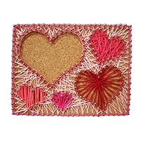 Pretty Twisted Happy Hearts String Art DIY Craft Kit THUMBNAIL