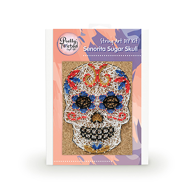 Pretty Twisted Senorita Sugar Skull String Art DIY Kit MAIN