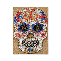 Pretty Twisted Senorita Sugar Skull String Art DIY Craft Kit THUMBNAIL