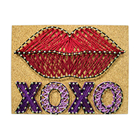 Pretty Twisted Sealed with a Kiss String Art DIY Craft Kit THUMBNAIL