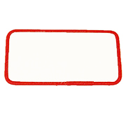 Standard Color Blank Patches - 1 Inch by 4.5 Inch Rectangle